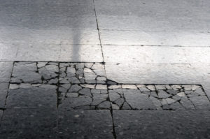 This uneven sidewalk could result in a premises liability claim in South Carolina